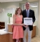 Pictured (L-R) Claudia McCullough Willett, Sam Perry Scholarship Recipient; Gary Bowman, President of the GHS Foundation
